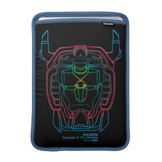 Voltron | Pilot Colors Gradient Head Outline MacBook Sleeve