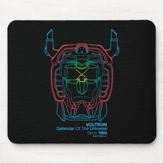 Voltron | Pilot Colors Gradient Head Outline Mouse Pad