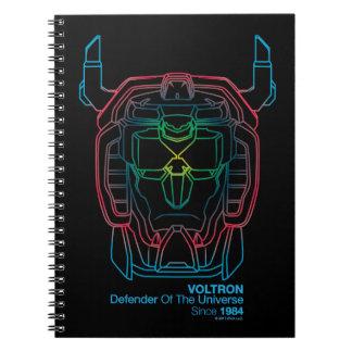 Voltron | Pilot Colors Gradient Head Outline Notebook