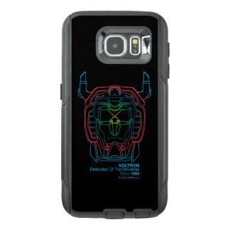 Voltron | Pilot Colors Gradient Head Outline OtterBox Samsung Galaxy S6 Case