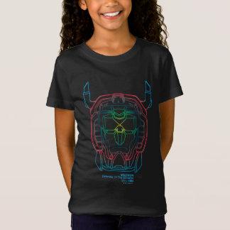 Voltron | Pilot Colors Gradient Head Outline T-Shirt