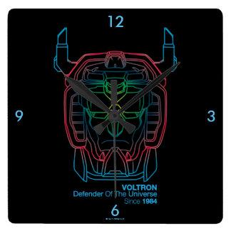 Voltron   Pilot Colors Gradient Head Outline Wallclock