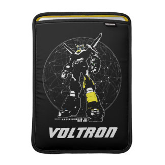 Voltron | Silhouette Over Map Sleeve For MacBook Air