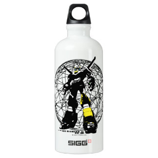 Voltron | Silhouette Over Map Water Bottle