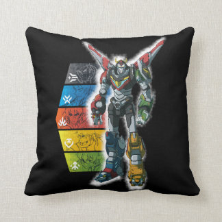 Voltron | Voltron And Pilots Graphic Cushion