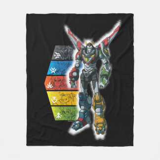 Voltron | Voltron And Pilots Graphic Fleece Blanket
