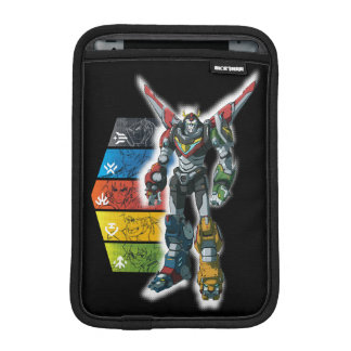 Voltron   Voltron And Pilots Graphic iPad Mini Sleeve