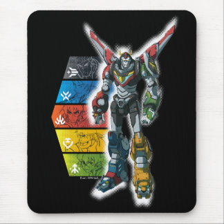 Voltron | Voltron And Pilots Graphic Mouse Pad