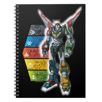 Voltron | Voltron And Pilots Graphic Spiral Notebook