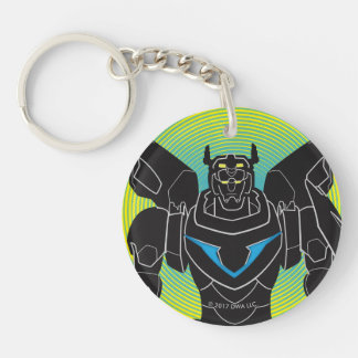 Voltron   Voltron Black Silhouette Double-Sided Round Acrylic Key Ring
