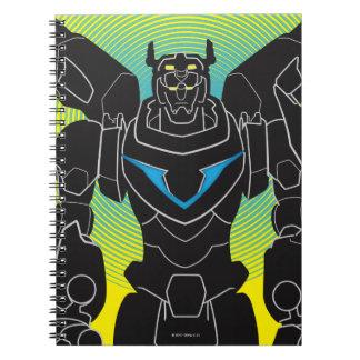 Voltron | Voltron Black Silhouette Notebook