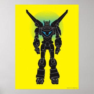 Voltron   Voltron Black Silhouette Poster