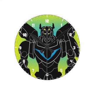 Voltron   Voltron Black Silhouette Round Clock