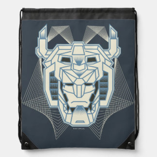 Voltron | Voltron Head Blue and White Outline Drawstring Bag