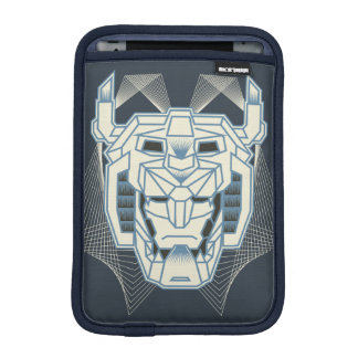 Voltron | Voltron Head Blue and White Outline iPad Mini Sleeve
