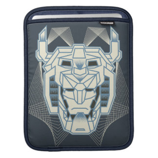 Voltron | Voltron Head Blue and White Outline iPad Sleeve