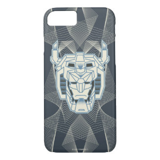 Voltron | Voltron Head Blue and White Outline iPhone 8/7 Case