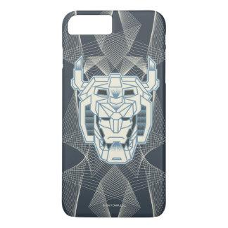Voltron   Voltron Head Blue and White Outline iPhone 8 Plus/7 Plus Case