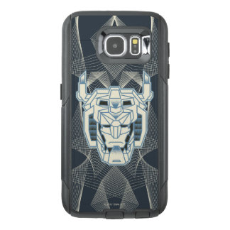 Voltron | Voltron Head Blue and White Outline OtterBox Samsung Galaxy S6 Case