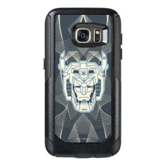 Voltron | Voltron Head Blue and White Outline OtterBox Samsung Galaxy S7 Case