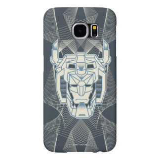 Voltron | Voltron Head Blue and White Outline Samsung Galaxy S6 Cases