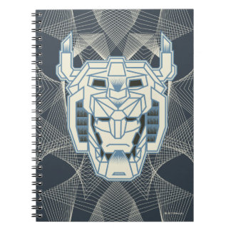 Voltron | Voltron Head Blue and White Outline Spiral Notebook
