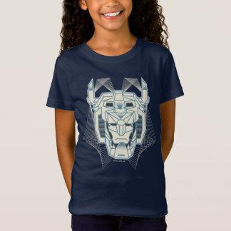 Voltron   Voltron Head Blue and White Outline T-Shirt