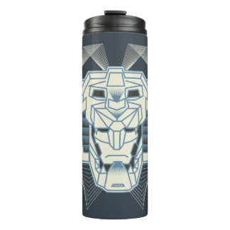 Voltron | Voltron Head Blue and White Outline Thermal Tumbler
