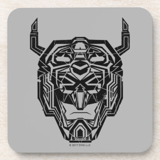 Voltron | Voltron Head Fractured Outline Beverage Coaster