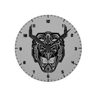 Voltron   Voltron Head Fractured Outline Clocks