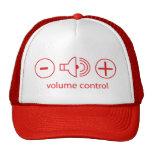 volume control mesh hats