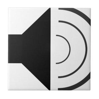 Volume up Speaker Ceramic Tile