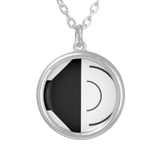 Volume up Speaker Silver Plated Necklace