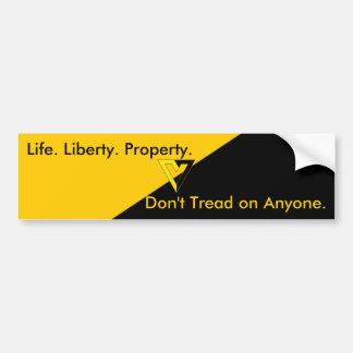 Voluntarist Anarcho-Capitalist Bumper Sticker