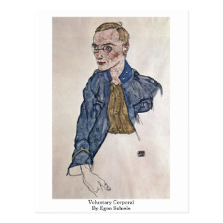 Voluntary Corporal By Egon Schiele Post Cards