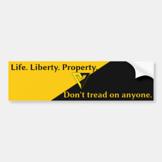 Voluntaryist Anarcho-Capitalist Bumper Sticker