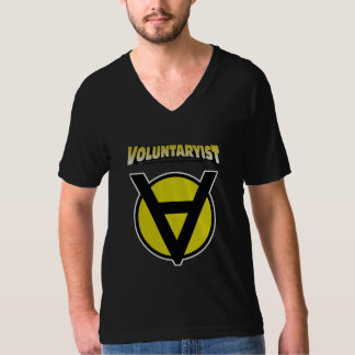 Voluntaryist V-Neck Shirt with Logo