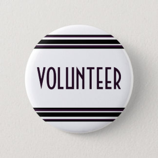 Volunteer 6 Cm Round Badge