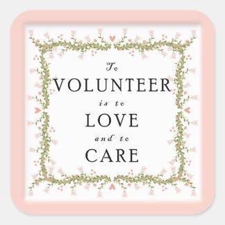 Volunteer Appreciation Square Sticker