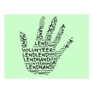 Volunteer Awareness: Lend a Helping Hand Postcard