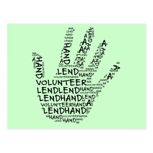Volunteer Awareness: Lend a Helping Hand Postcards