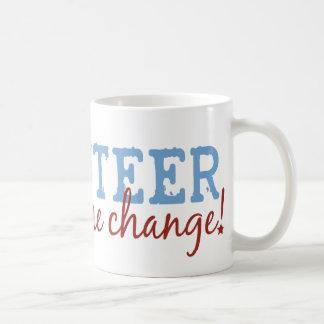 Volunteer Be The Change Basic White Mug