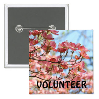 VOLUNTEER buttons Name tags Service Employees