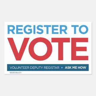 Volunteer Deputy Registrar Sticker
