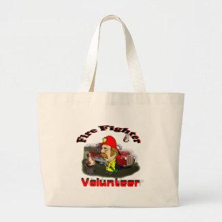 Volunteer Fire Fighter Jumbo Tote Bag