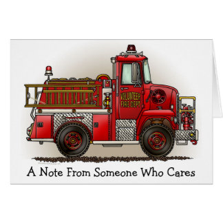 Volunteer Fire Truck Note Card