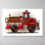 Volunteer Fire Truck Print