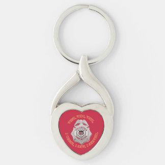 Volunteer Firefighter Badge Key Ring