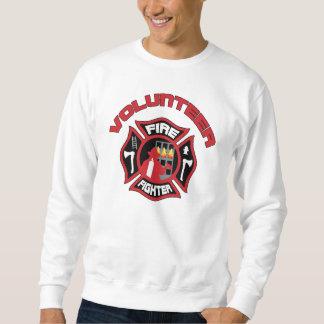 Volunteer Firefighter Modern Badge Sweatshirt