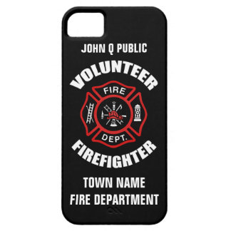 Volunteer Firefighter Name Template Case For The iPhone 5